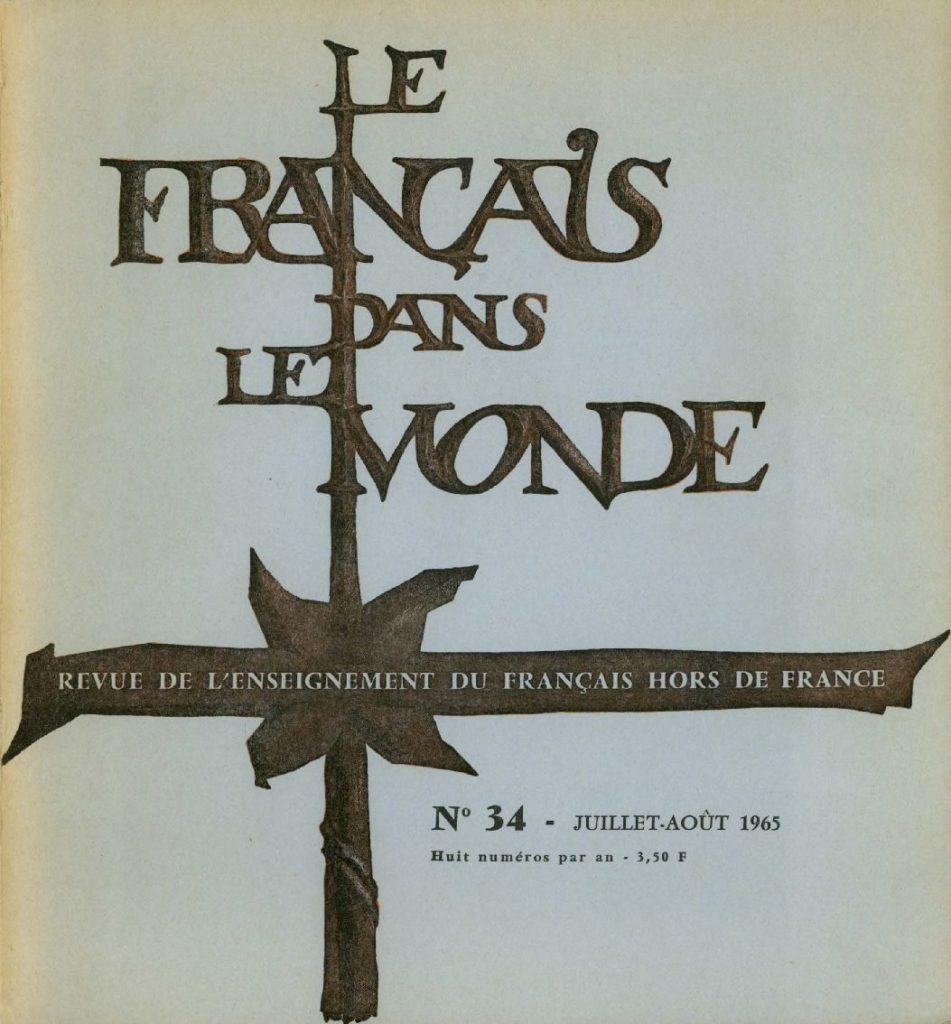Le français dans le monde 34
