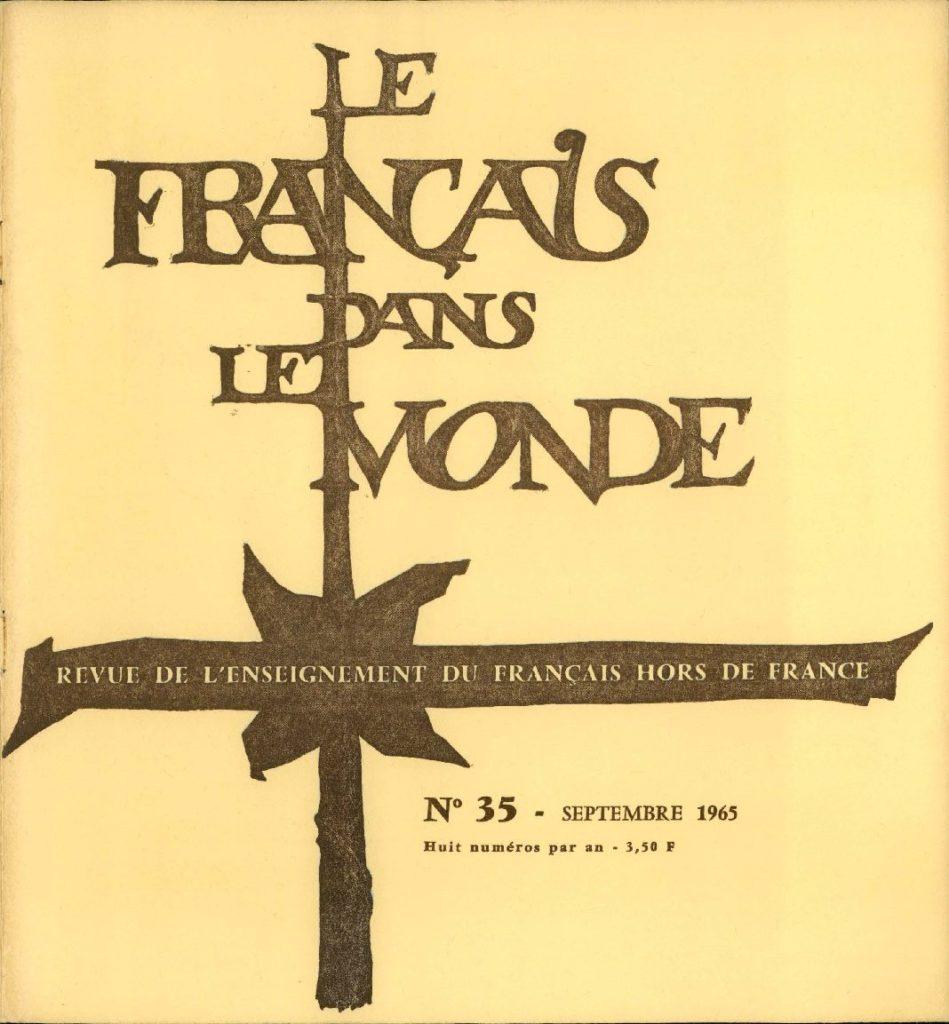 Le français dans le monde 35
