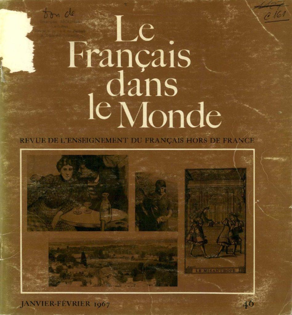 Le français dans le monde 46