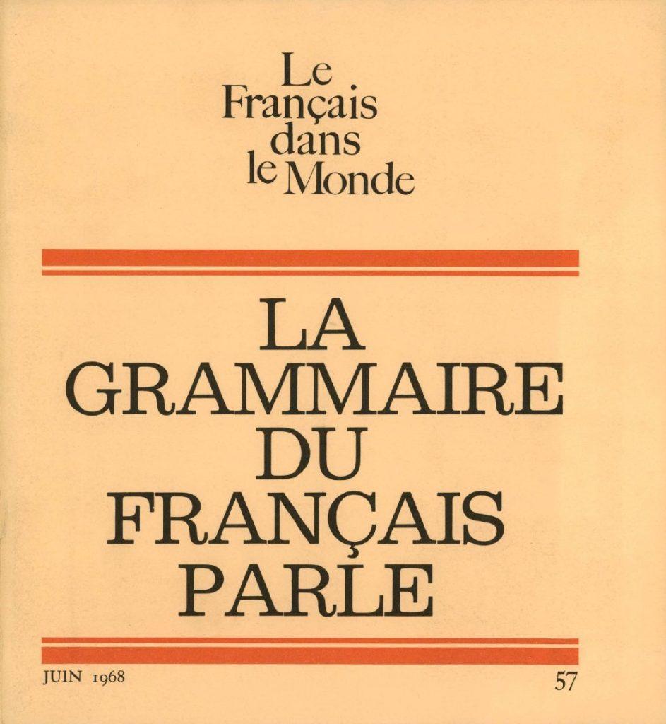 Le français dans le monde 57