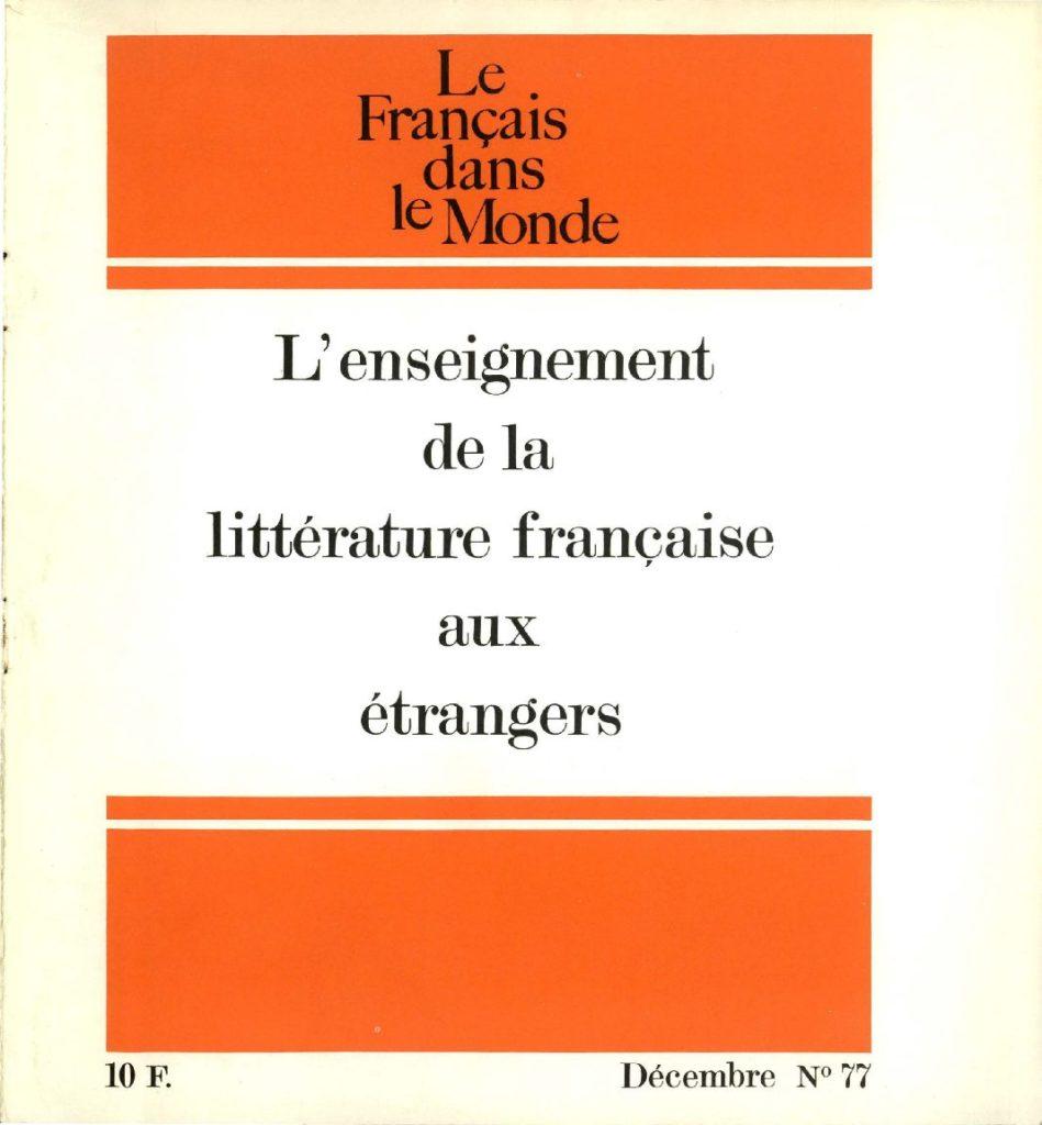 Le français dans le monde 77