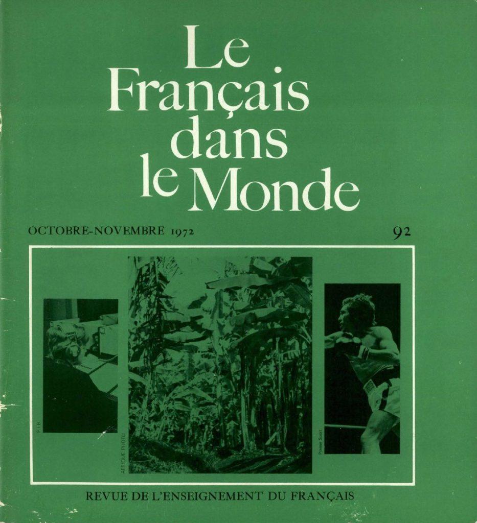 Le français dans le monde 92