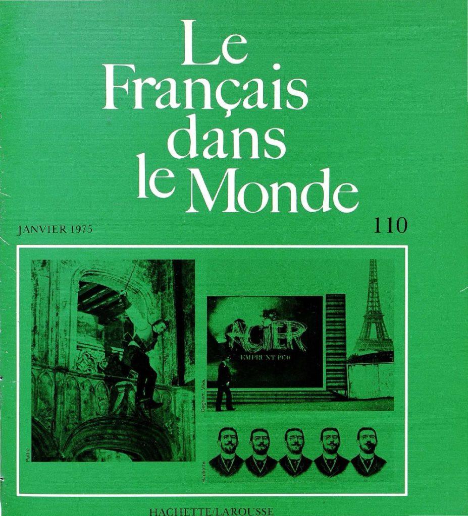 Le français dans le monde 110