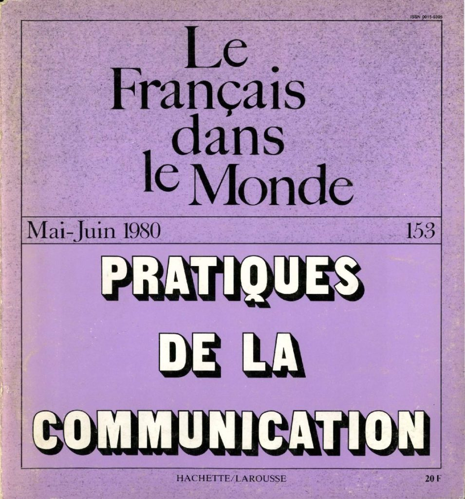 Le français dans le monde 153