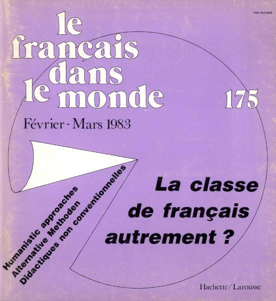 Le français dans le monde 175