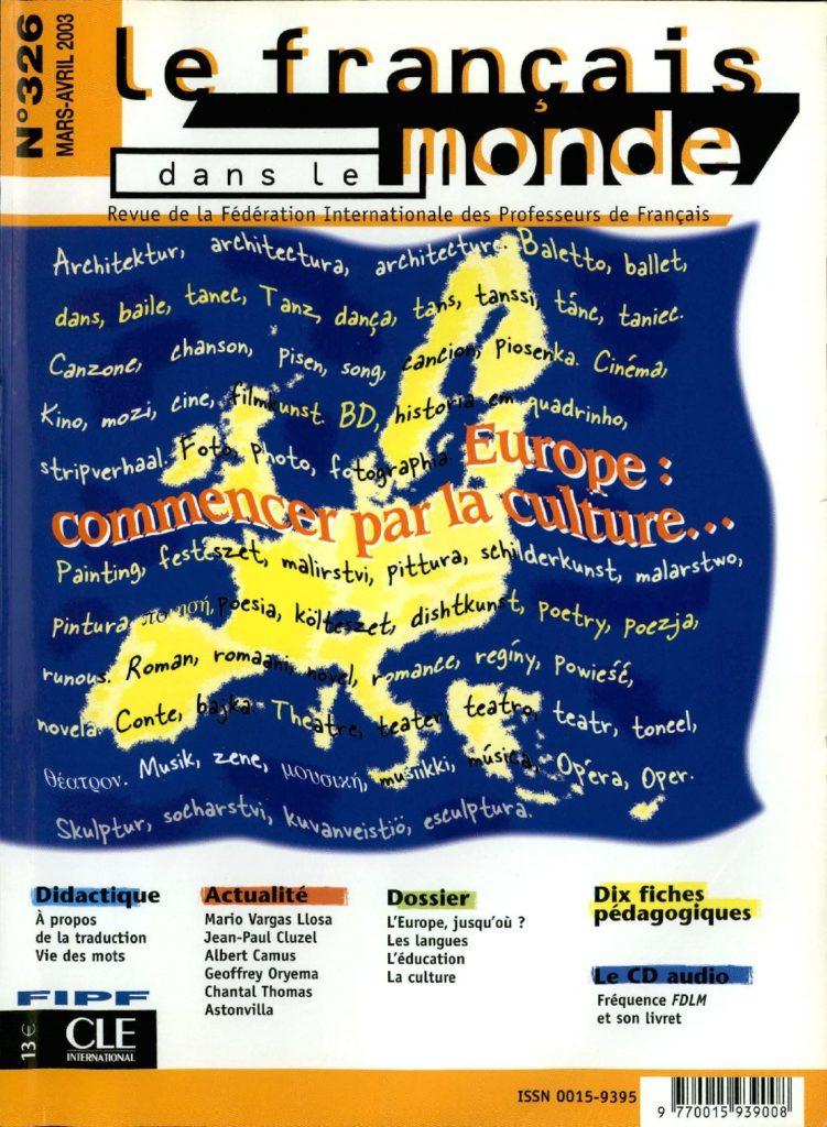Le français dans le monde 326