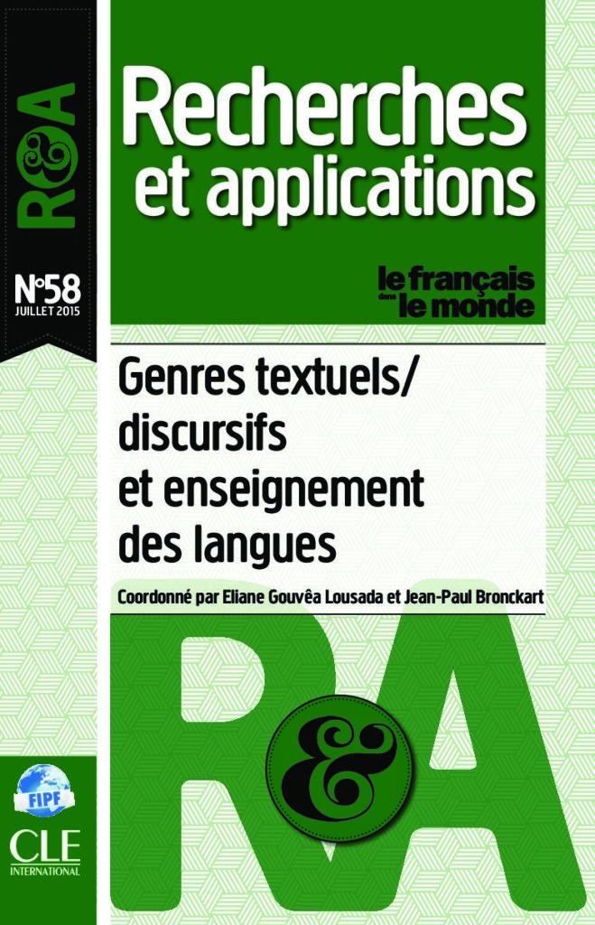 Genres textuels/ discursifs et enseignement des langues 58