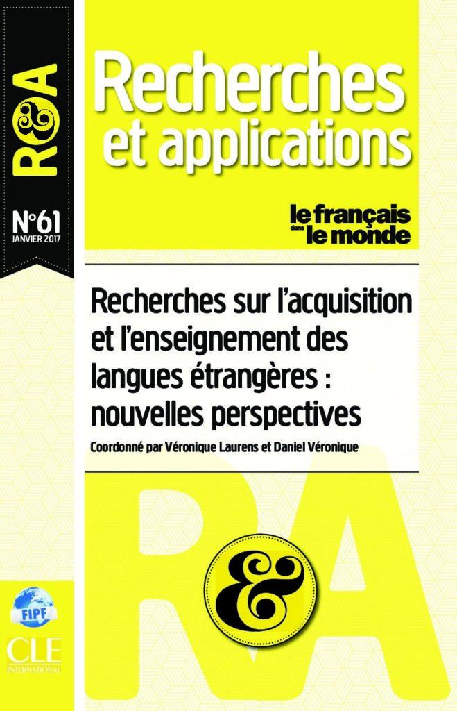 Recherches sur l'acquisition et l'enseignement des langues étrangères 61