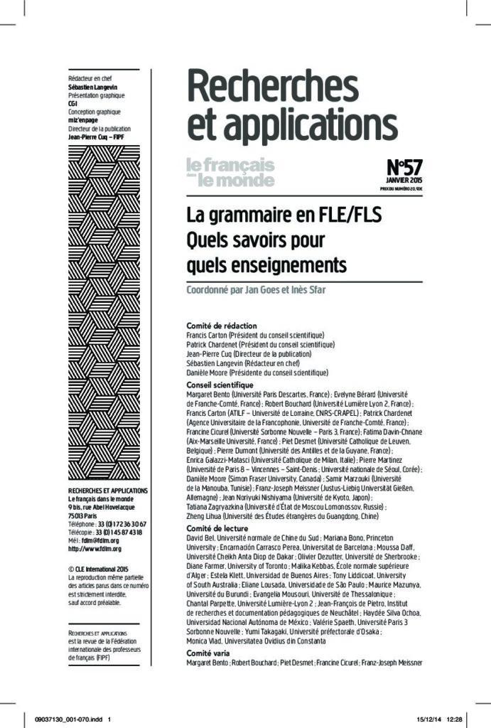 La grammaire en FLE/FLS 57